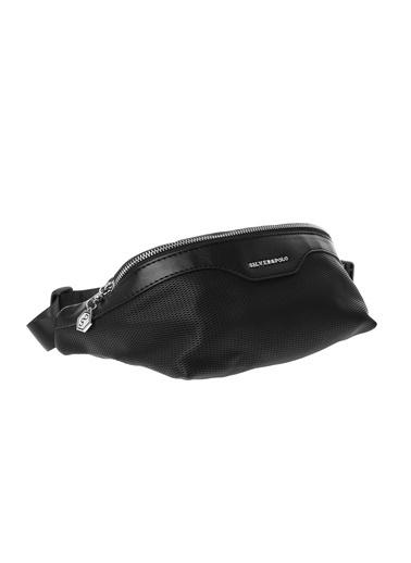 Silver Polo Bel Çantası Siyah